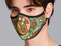 Paisley Reusable Fabric Mask Color Printing